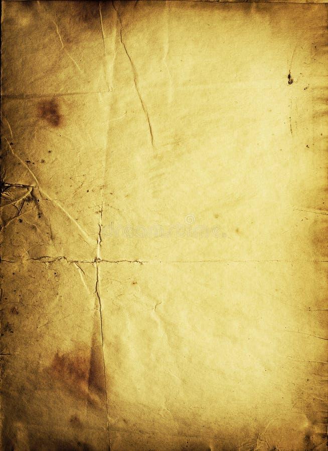 Złoty Papier Crunch Zdjęcia Stock