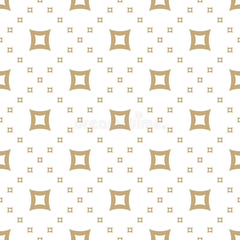 Z?oty wektorowy bezszwowy wz?r Geometryczna tekstura z małymi liniowymi kwadratami royalty ilustracja