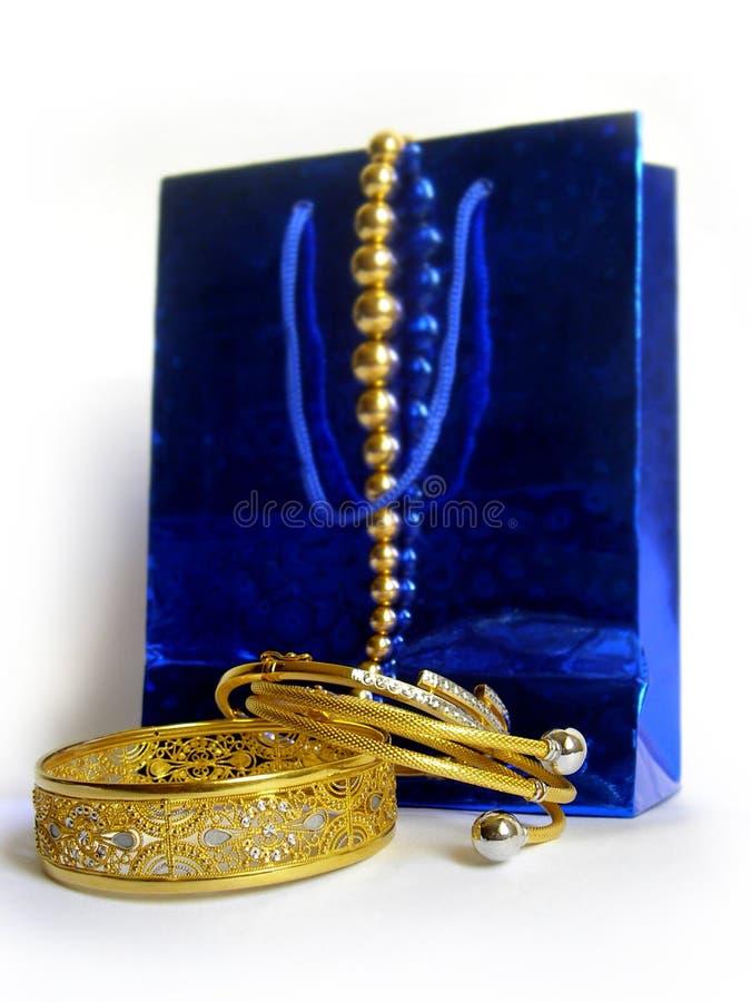 Złoty Zakupy Zdjęcie Royalty Free