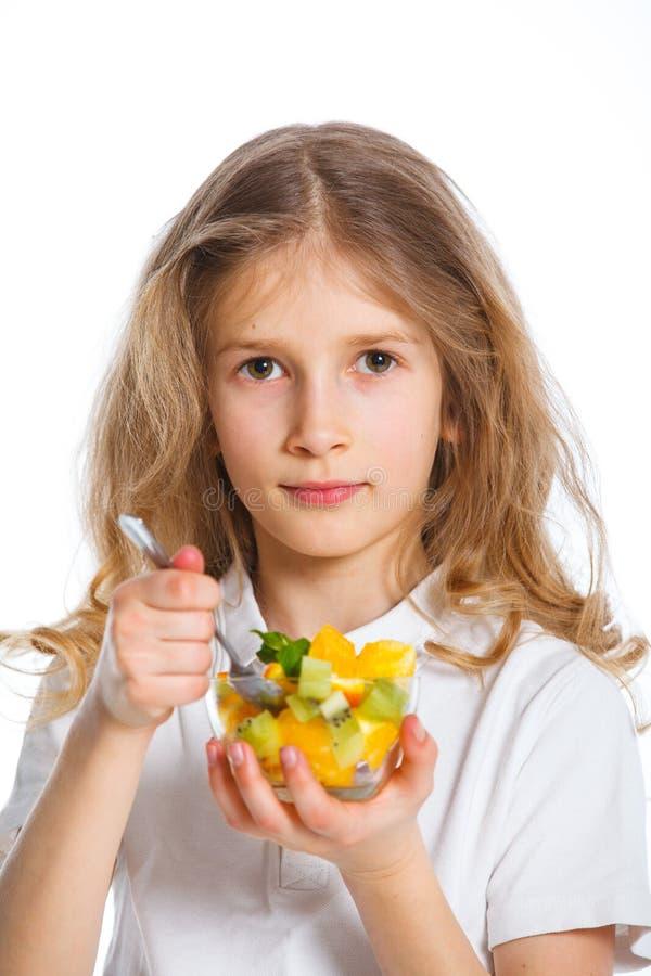 Z owoc śliczna mała dziewczynka fotografia stock