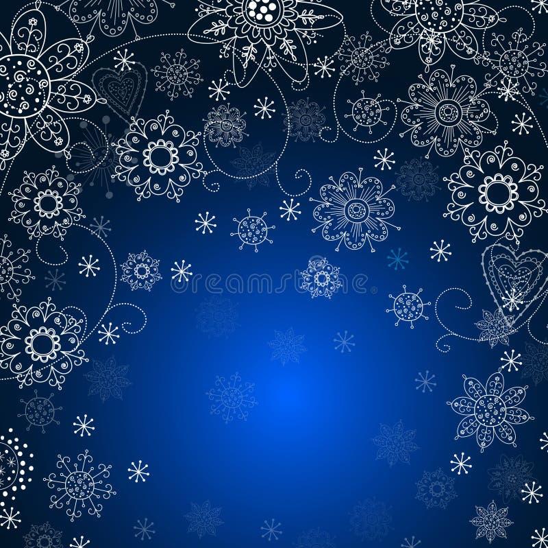 Z płatek śniegu zaproszenie bożenarodzeniowa karta ilustracji