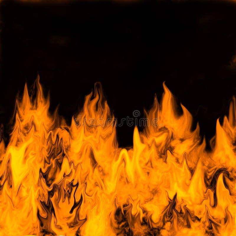 z płonącym ciemnym płomieniom royalty ilustracja
