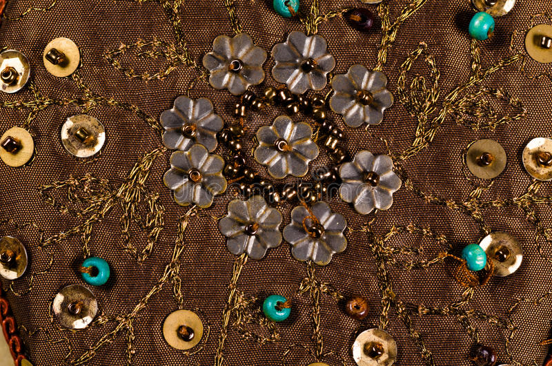 Z paciorkami tkanina zdjęcie stock