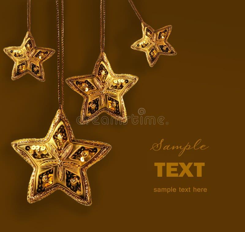 z paciorkami złota odosobnione gwiazdy biały obrazy stock