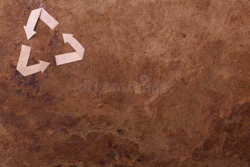 Z parer stary tło przetwarza znaka royalty ilustracja