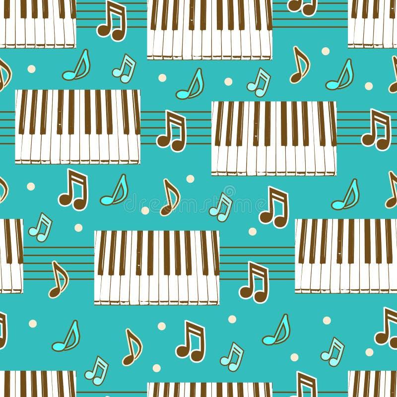 Z pianinem bezszwowy tło ilustracja wektor