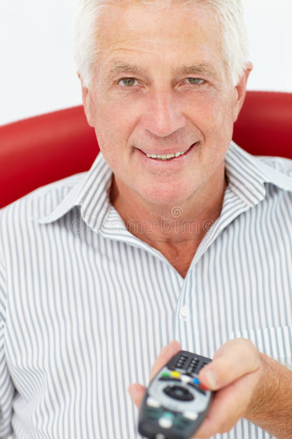 Z pilot do tv starszy mężczyzna obrazy royalty free