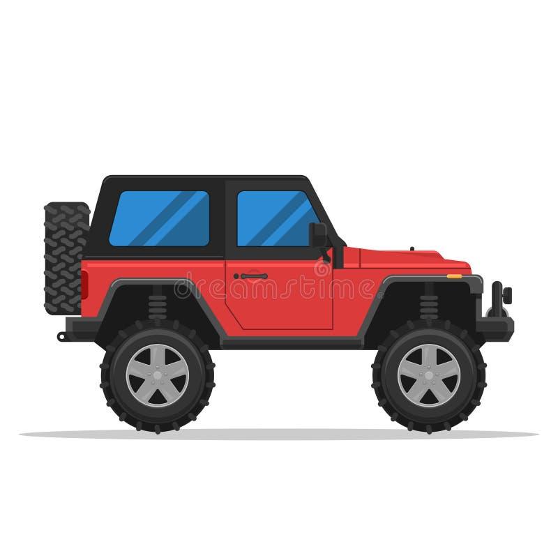 z pojazdu drogowego, ilustracja wektor