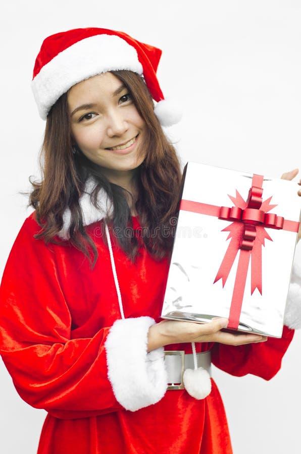 Z popielatymi bożymi narodzeniami Santa kapelusz Claus zdjęcie royalty free