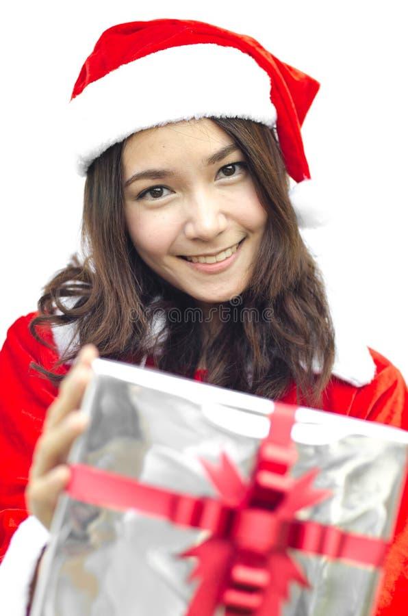 Z popielatymi bożymi narodzeniami Santa kapelusz Claus zdjęcia stock
