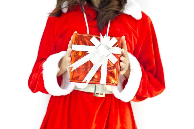Z popielatymi bożymi narodzeniami Santa kapelusz Claus zdjęcie stock