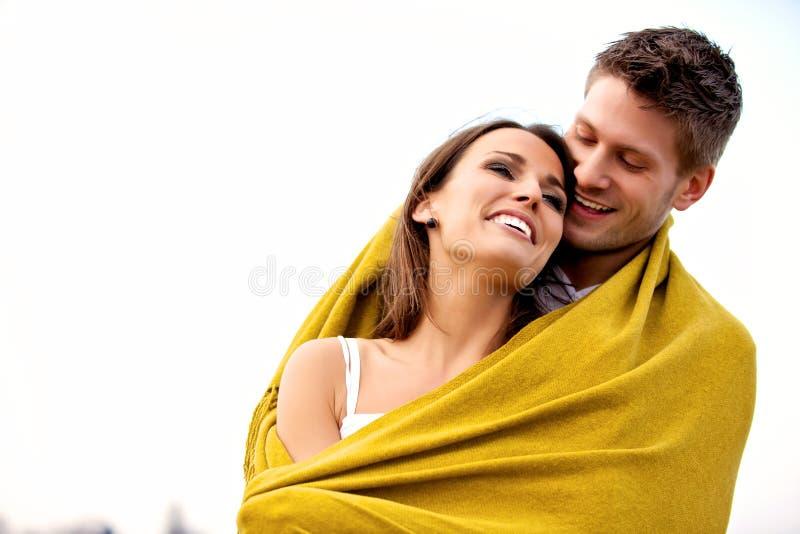 Z Powszechny TARGET79_0_ romantyczna Para obraz stock
