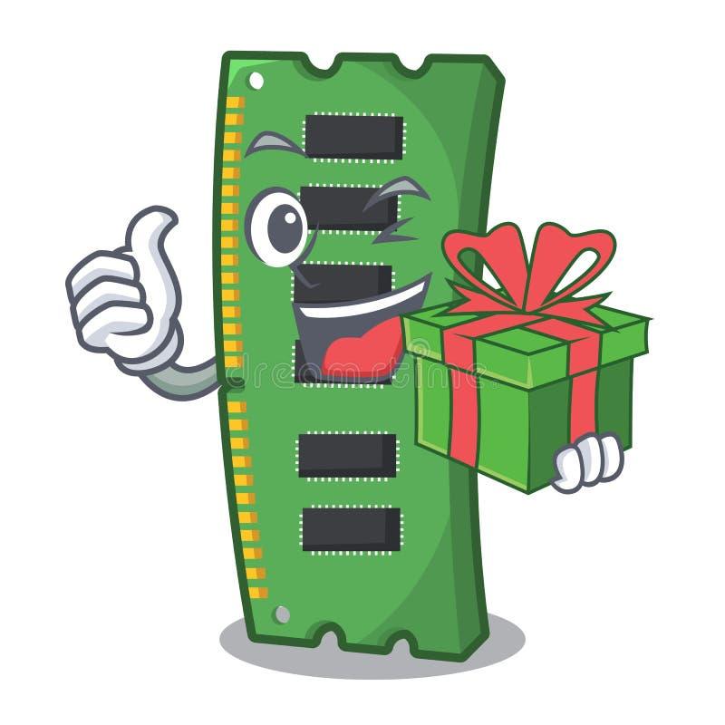 Z prezenta RAM kartą pamięci w peceta charakterze ilustracji