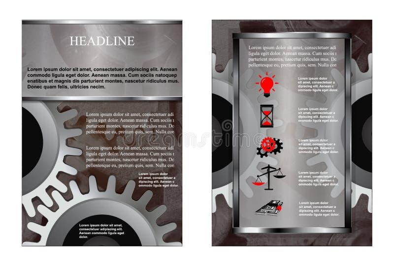 Z przekładni broszurką royalty ilustracja