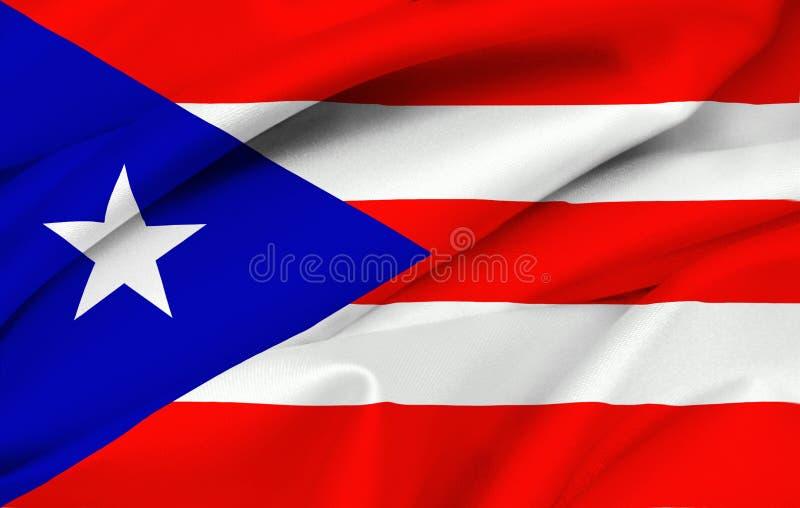z puerto rico Puertorico bandery obraz stock