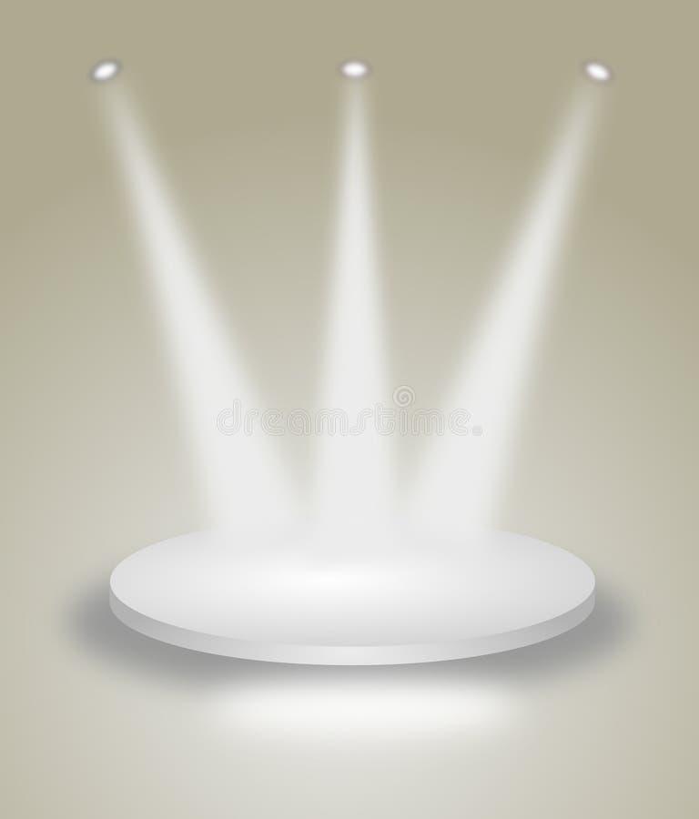 Z punktów światłami jaskrawy scena royalty ilustracja