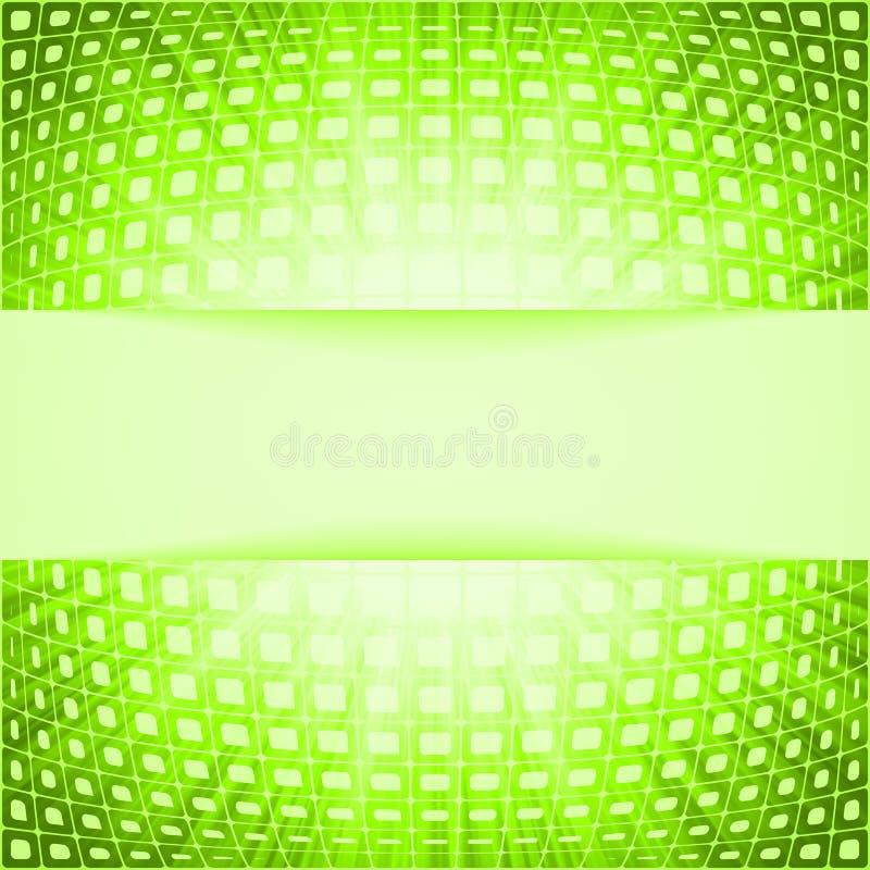 Z racy zielonym wybuchem technologia kwadraty ilustracja wektor