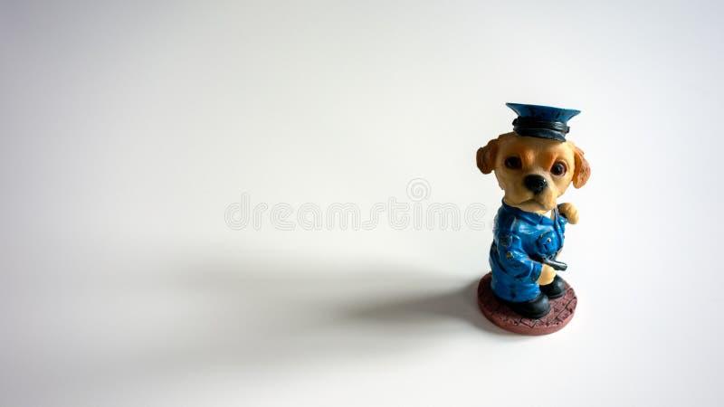 Z rodziny psów funkcjonariusz policji, akcji postać zdjęcie stock