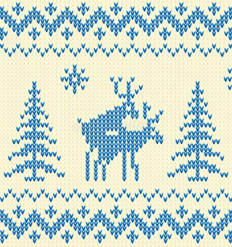 Z rogaczami błękitny pulower royalty ilustracja