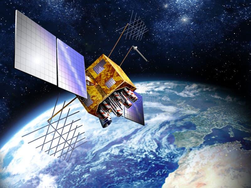 z satelitów gps ilustracja wektor