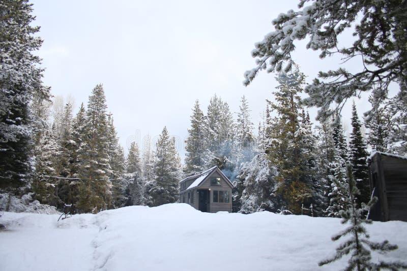 Z siatka malutkiego domu w górach zdjęcia stock