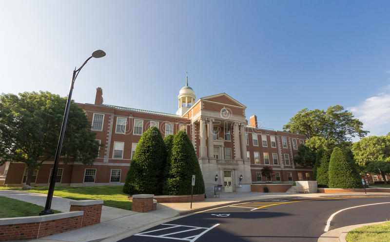 Z. Smith Reynolds Library at WFU. Z. Smith Reynolds Library at Wake Forest University in Winston-Salem, NC royalty free stock image