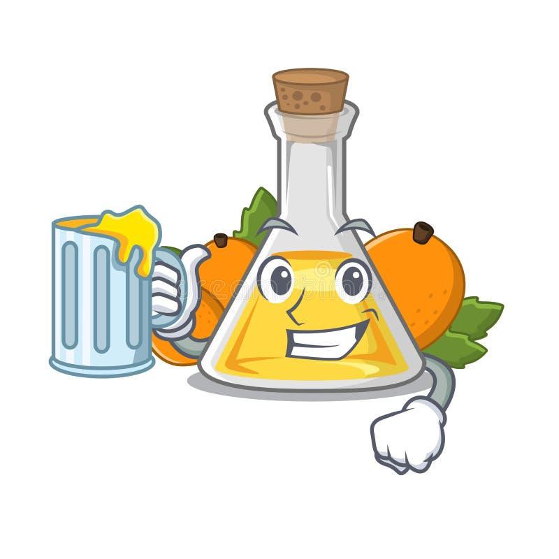 Z sok moreli olejem w kreskówka kształcie ilustracja wektor