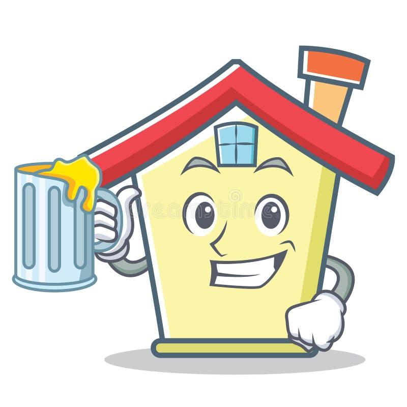 Z soku domu charakteru kreskówki stylem ilustracji