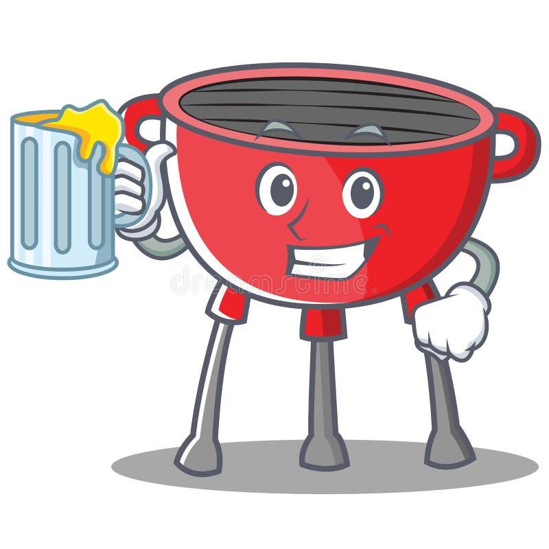 Z soku grilla grilla postać z kreskówki ilustracji