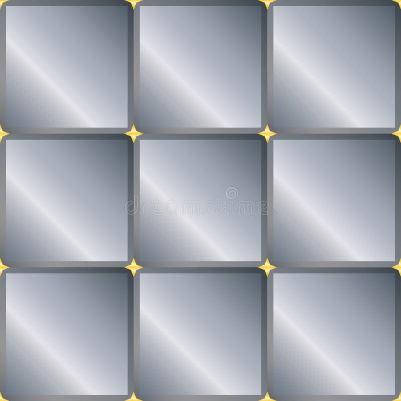 Z szarymi kwadratami bezszwowy tło ilustracja wektor