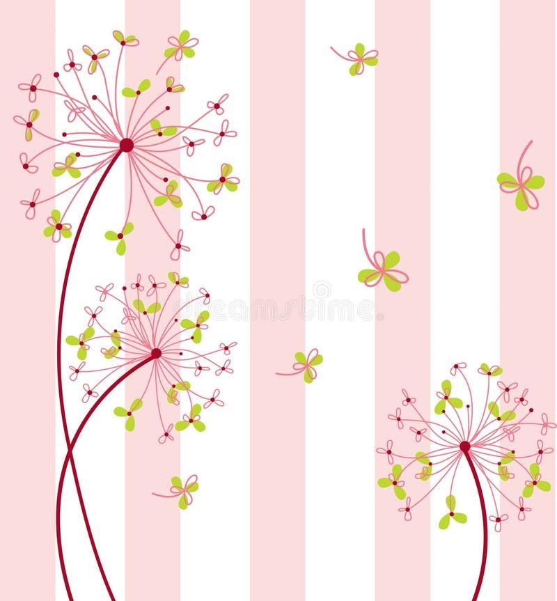 Z tłem słodki kwiat ilustracja wektor