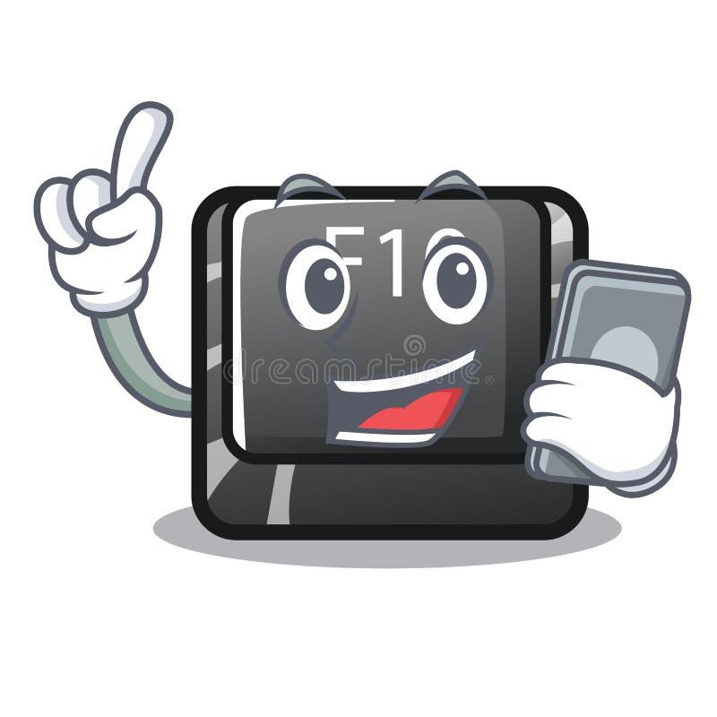 Z telefonu guzikiem f10 w maskotka kształcie ilustracji