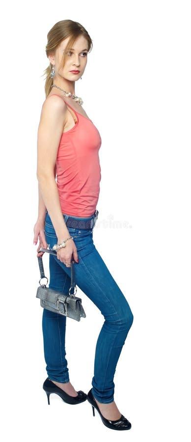 Z torbą piękna kobieta obrazy royalty free
