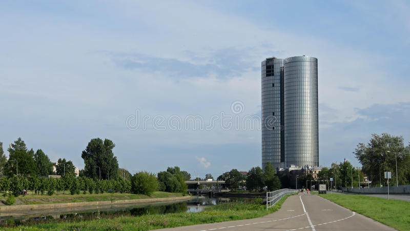 Z-towers building in RÄ«ga, Latvia. New modern building in Riga, capital of Latvia stock images