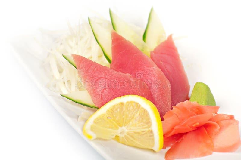 Z tuńczykiem tradycyjny Japoński naczynie zdjęcie royalty free
