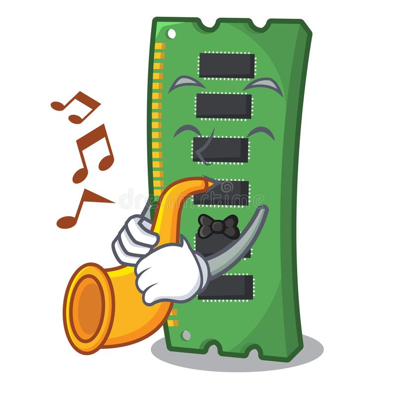Z tubową RAM kartą pamięci w peceta charakterze ilustracja wektor