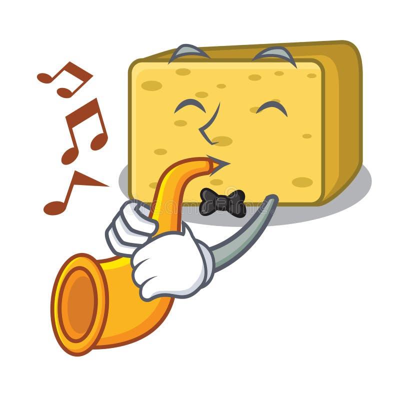 Z tubowym gouda serem składa kreskówkę royalty ilustracja