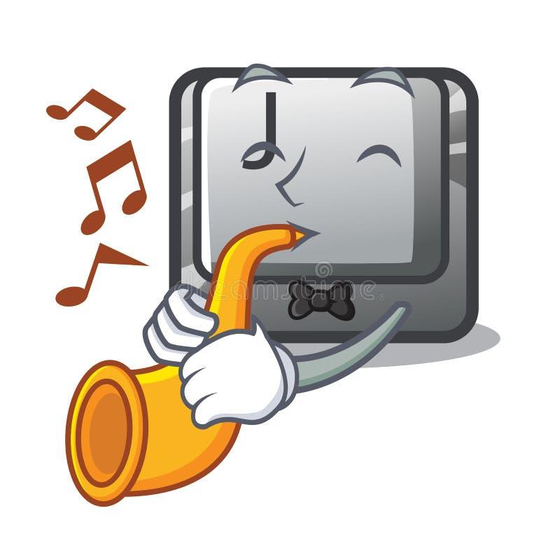 Z tubowym guzikiem J na komputerowym charakterze ilustracja wektor