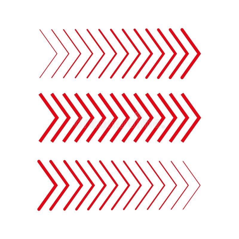 Z ukosa set Liniowi znaki inkasowi Strzałkowaty projekt cztery elementu dla twój projekta Pasiasty kierunek również zwrócić corel ilustracji