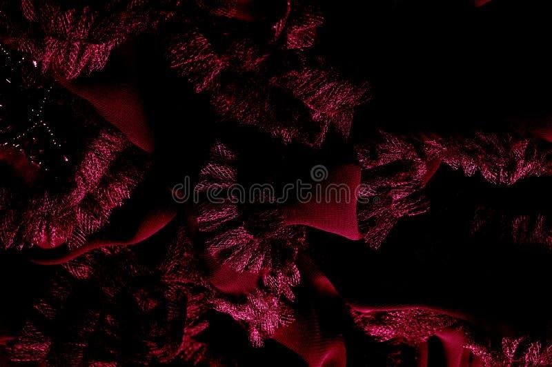 Z upiększonymi wzorami czerwonymi Ten materiał będzie brylantem zdjęcie stock