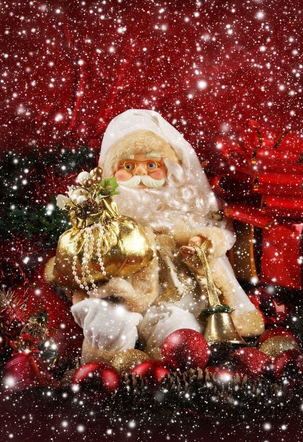 Z uroczy Santa bożenarodzeniowy tło fotografia royalty free