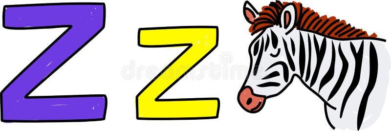 Z is voor zebra royalty-vrije illustratie