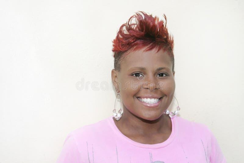 z włosami czerwona kobieta fotografia royalty free