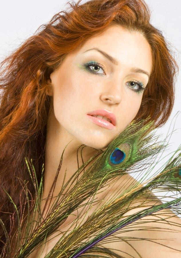 z włosami czerwone kobiety zdjęcia stock