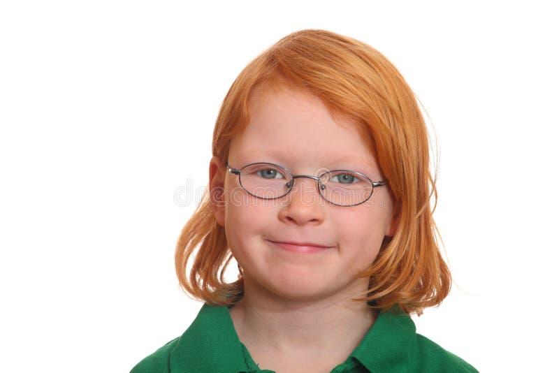 z włosami dziewczyny czerwień obraz stock