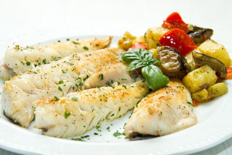 Z warzywami rybi fillet obrazy stock