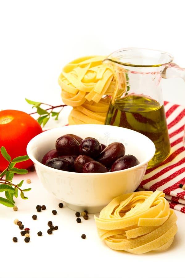 Z warzywami włoski makaron fotografia stock