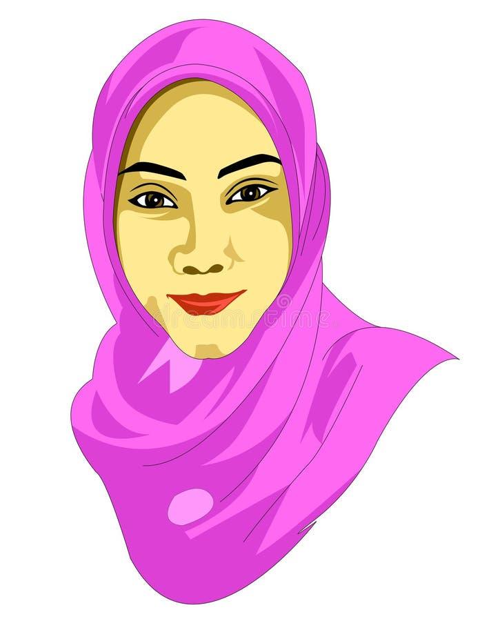 Z wdziękiem być ubranym hijab ilustracja wektor