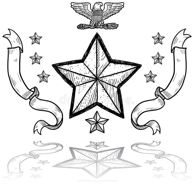 z Wiankiem wojsko USA Insygnia ilustracja wektor
