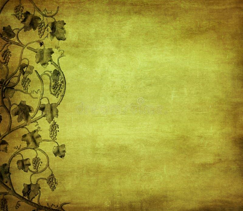 Z winogronem Grunge tło ilustracji